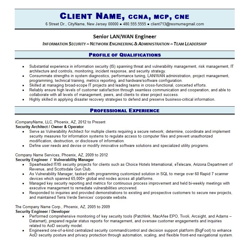 See Page 1 | See Page 2. Writing An Effective IT Resume ...